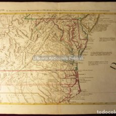 Arte: [MAPA. MARYLAND, JERSEY, VIRGINIA, CAROLINA. 1778] ZATTA. ANTONIO.. Lote 158134106