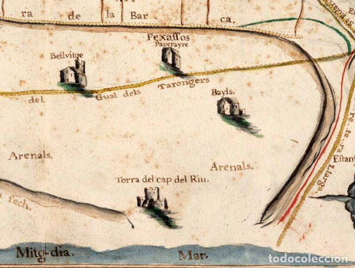 Arte: Raro Mapa de LHospitalet de Llobregat de aproximadamente el año 1600 - Reproducción facsimil - Foto 4 - 158223334