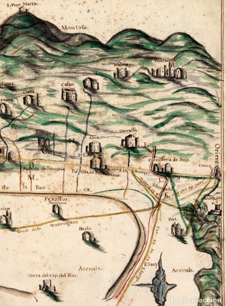 Arte: Raro Mapa de LHospitalet de Llobregat de aproximadamente el año 1600 - Reproducción facsimil - Foto 5 - 158223334