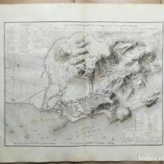 Arte: MAPA TARRAGONA DEL ASEDIO DE 1811 - SUCHET - AÑO 1828. Lote 158268534