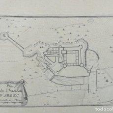 Arte: MAPA DE ARBECA - BEAULIEU - AÑO 1707. Lote 158529774