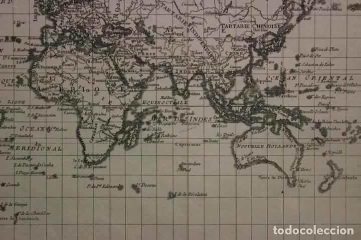 Arte: Mapa del mundo o planisferio, 1780. Rigobert Bonne - Foto 5 - 158682016