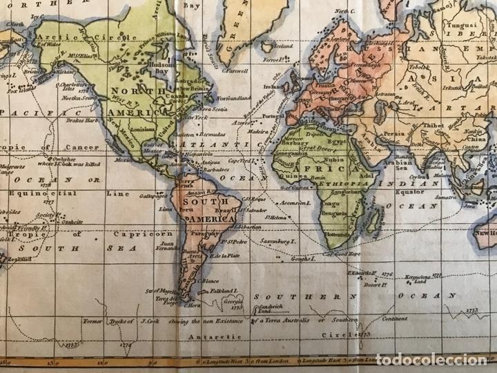 Arte: Mapa del mundo o planisferio, 1798. Walker/Darton - Foto 5 - 158790094