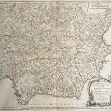 Arte: GRAN MAPA DEL SUDESTE DE ESPAÑA (ANDALUCÍA, MURCIA, CASTILLA,...), 1751. ROBERT DE VAUGONDY. Lote 158834412
