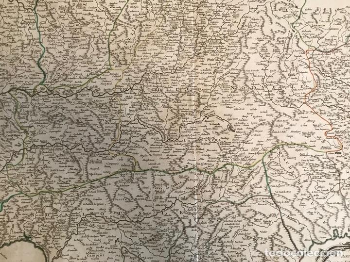 Arte: Gran mapa del Sudeste de España (Andalucía, Murcia, Castilla,...), 1751. Robert de Vaugondy - Foto 12 - 158834412