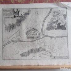 Arte: 1693 -PLANO MAPA CAMPREDON. CAMPRODON. GIRONA. GERONA.GRABADO ORIGINAL. POR NICOLÁS DE FER.. Lote 158843694