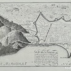 Art: MAPA GRABADO DE BARCELONA - AÑO 1695 - ORIGINAL - NICOLAS DE FER. Lote 158888357