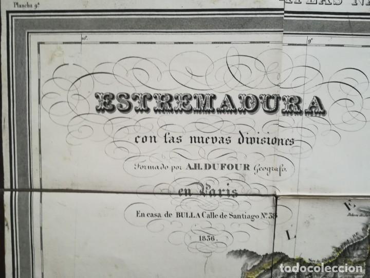 MAPA DE EXTREMADURA - DUFOUR - AÑO 1836 (Arte - Cartografía Antigua (hasta S. XIX))
