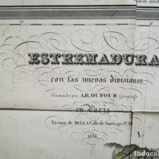 Arte: MAPA DE EXTREMADURA - DUFOUR - AÑO 1836. Lote 159136942