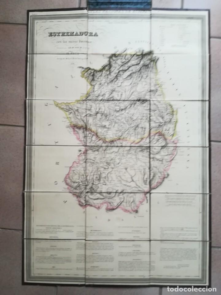 Arte: MAPA DE EXTREMADURA - DUFOUR - AÑO 1836 - Foto 2 - 159136942