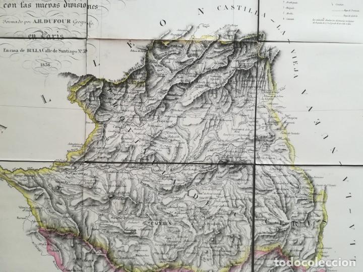 Arte: MAPA DE EXTREMADURA - DUFOUR - AÑO 1836 - Foto 3 - 159136942