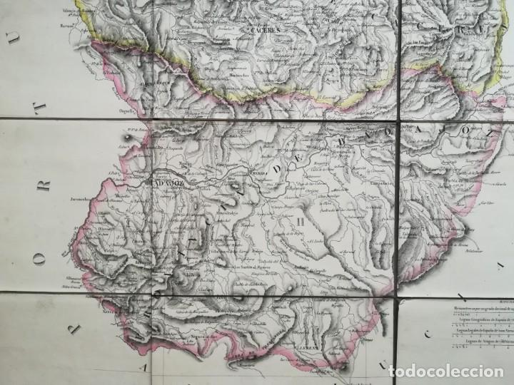 Arte: MAPA DE EXTREMADURA - DUFOUR - AÑO 1836 - Foto 4 - 159136942