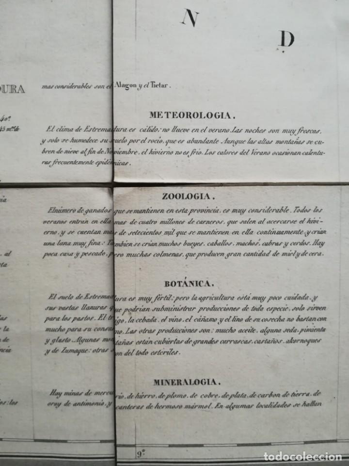 Arte: MAPA DE EXTREMADURA - DUFOUR - AÑO 1836 - Foto 9 - 159136942