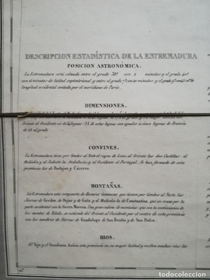 Arte: MAPA DE EXTREMADURA - DUFOUR - AÑO 1836 - Foto 10 - 159136942