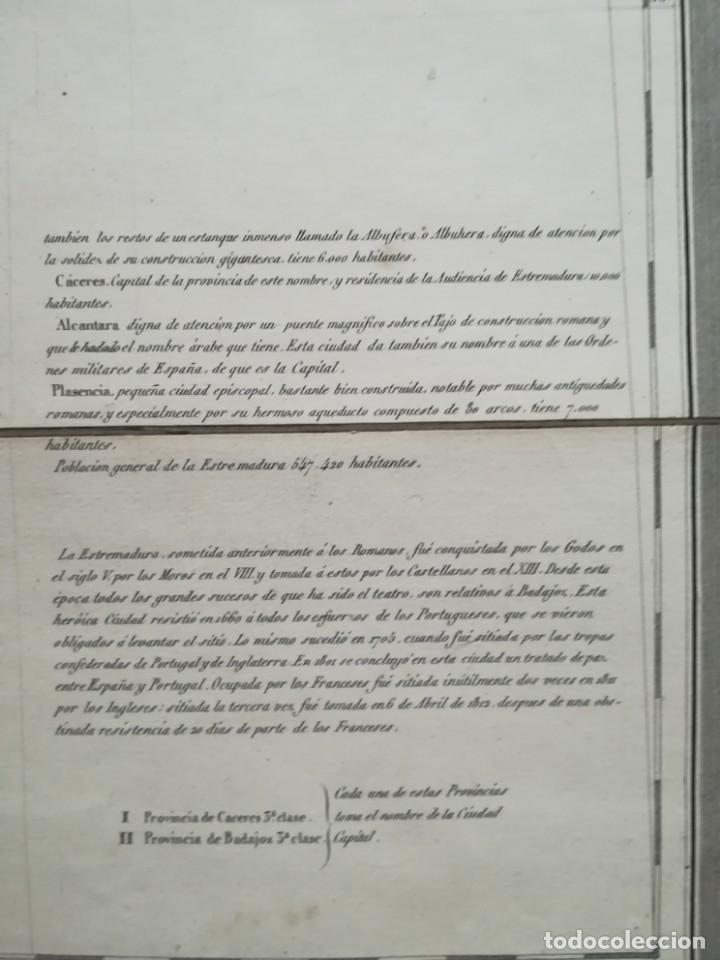 Arte: MAPA DE EXTREMADURA - DUFOUR - AÑO 1836 - Foto 12 - 159136942