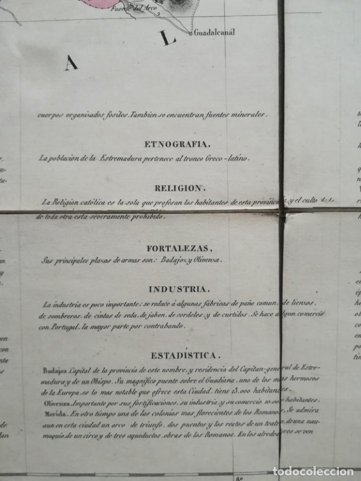 Arte: MAPA DE EXTREMADURA - DUFOUR - AÑO 1836 - Foto 13 - 159136942