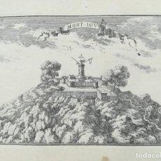 Arte: GRABADO CASTILLO MONTJUIC BARCELONA - BEAULIEU - AÑO 1707. Lote 159719742