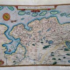 Arte: MAPA - HOLANDA - FRISIAE ORIENTALIS DESCRIPTIO - 1590 - GRABADO COLOREADO. Lote 159726110