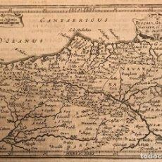 Arte: MAPA DE ASTURIAS, CANTABRIA, VIZCAYA, GUIPÚZCOA, NAVARRA,...(ESPAÑA), 1651. JANSSONIUS. Lote 159794348