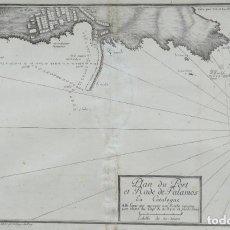Arte: MAPA CARTA NAUTICA PALAMOS GIRONA - AYROUARD - ANY 1732. Lote 159828514