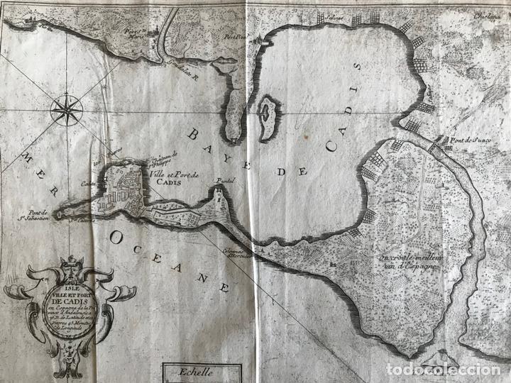 MAPA DE LA BAHÍA Y PUERTO DE CÁDIZ E INMEDIACIONES (ESPAÑA), 1693. NICOLAS DE FER (Arte - Cartografía Antigua (hasta S. XIX))