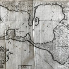 Arte: MAPA DE LA BAHÍA Y PUERTO DE CÁDIZ E INMEDIACIONES (ESPAÑA), 1693. NICOLAS DE FER. Lote 159839514