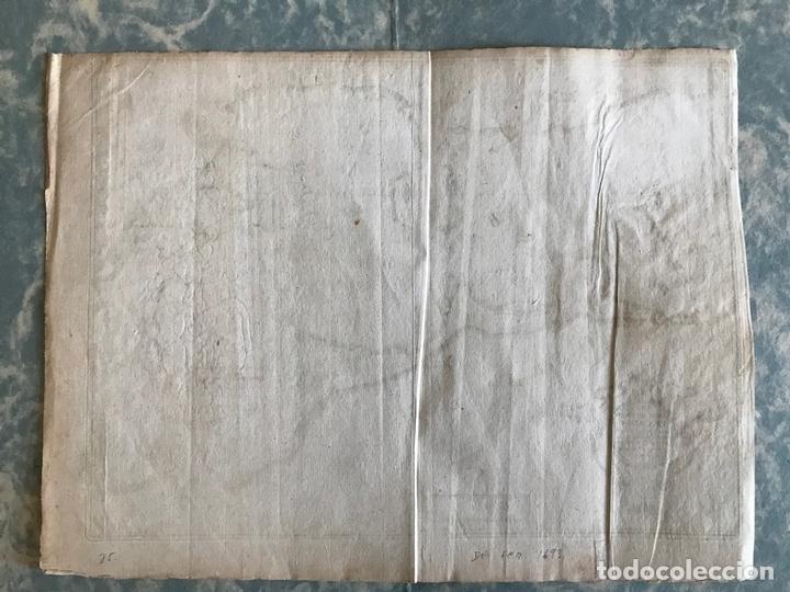 Arte: Mapa de la bahía y puerto de Cádiz e inmediaciones (España), 1693. Nicolas de Fer - Foto 8 - 159839514
