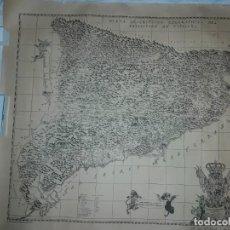 Arte: MAPA GRABADO NUEVA DESCRIPCIÓN GEOGRAPHICA DEL PRINCIPADO DE CATALUÑA 1720. Lote 160163146