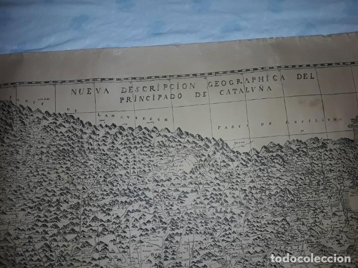 Arte: Mapa grabado Nueva Descripción Geographica del Principado de Cataluña 1720 - Foto 2 - 160163146