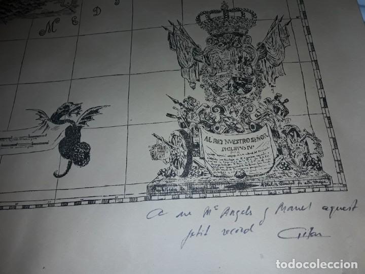 Arte: Mapa grabado Nueva Descripción Geographica del Principado de Cataluña 1720 - Foto 3 - 160163146