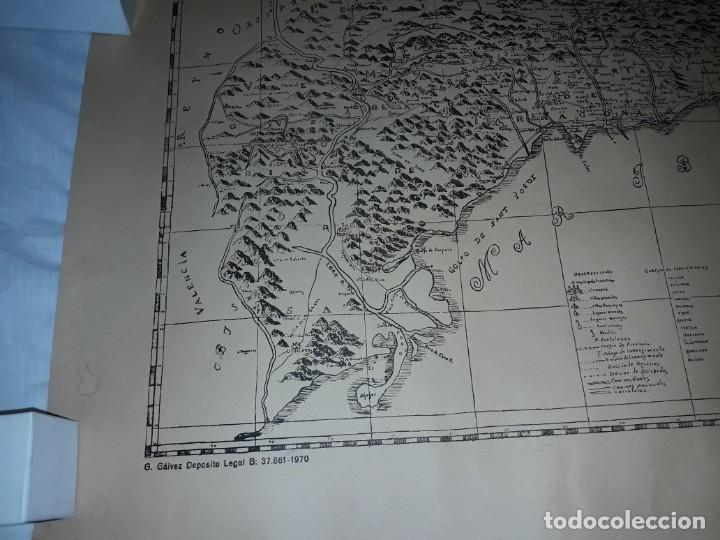 Arte: Mapa grabado Nueva Descripción Geographica del Principado de Cataluña 1720 - Foto 6 - 160163146