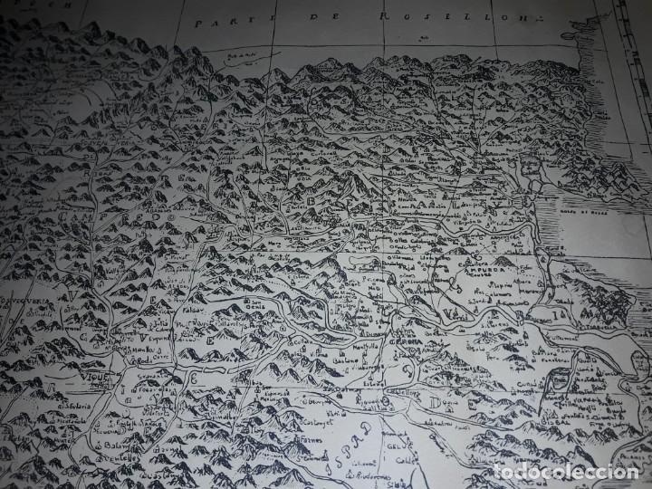 Arte: Mapa grabado Nueva Descripción Geographica del Principado de Cataluña 1720 - Foto 10 - 160163146