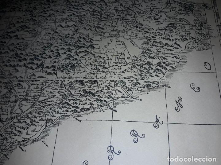 Arte: Mapa grabado Nueva Descripción Geographica del Principado de Cataluña 1720 - Foto 11 - 160163146
