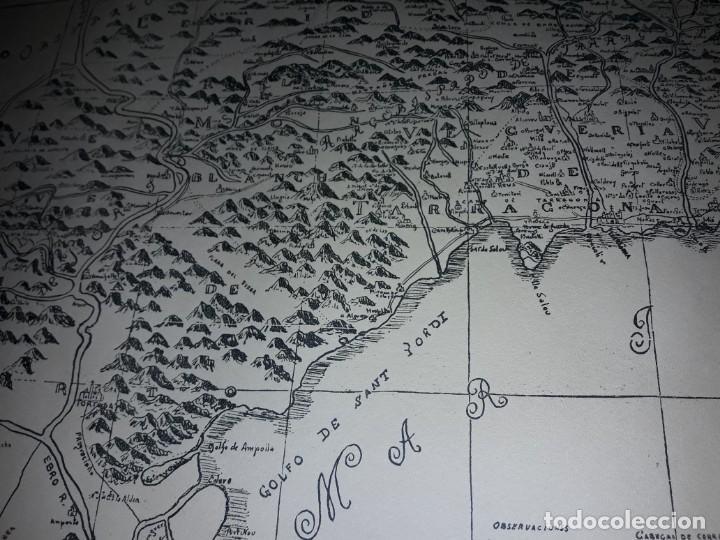 Arte: Mapa grabado Nueva Descripción Geographica del Principado de Cataluña 1720 - Foto 15 - 160163146