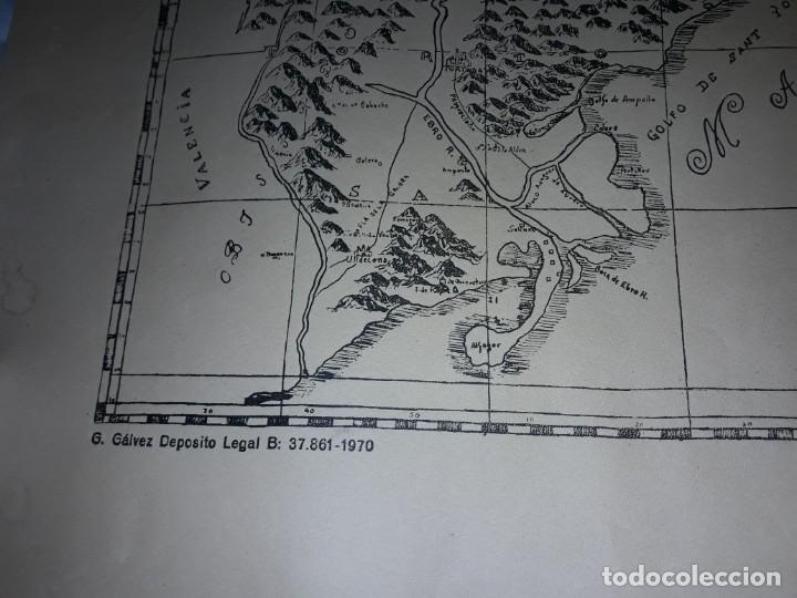 Arte: Mapa grabado Nueva Descripción Geographica del Principado de Cataluña 1720 - Foto 16 - 160163146