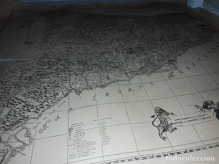 Arte: Mapa grabado Nueva Descripción Geographica del Principado de Cataluña 1720 - Foto 20 - 160163146