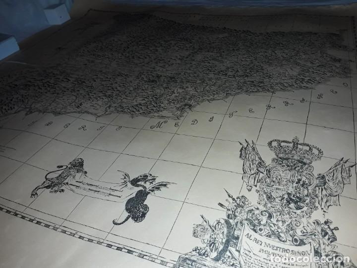 Arte: Mapa grabado Nueva Descripción Geographica del Principado de Cataluña 1720 - Foto 21 - 160163146