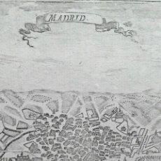 Arte: PLANO ANTIGUO MADRID AÑO 1684 CON CERTIF. ANTIGUEDAD. MAPAS ANTIGUOS MADRID ORIGINALES. Lote 160346018