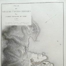 Arte: MAPA ASEDIO CASTRO URDIALES - AÑO 1813 - BELMAS -. Lote 160463542