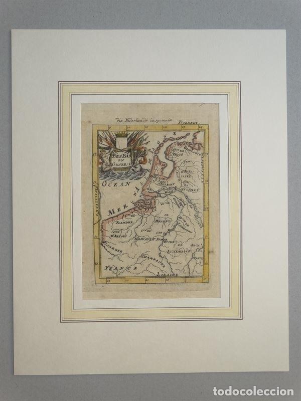 Arte: Mapa de Bélgica y Holanda (Europa), 1650. Mallet - Foto 2 - 160516833