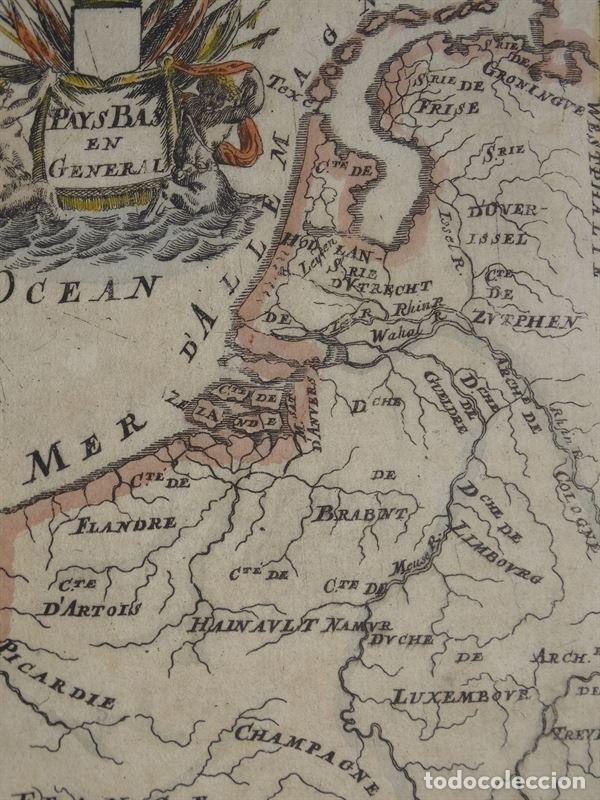 Arte: Mapa de Bélgica y Holanda (Europa), 1650. Mallet - Foto 3 - 160516833