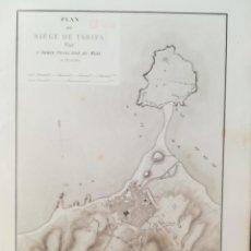 Arte: MAPA ASEDIO TARIFA - CADIZ - AÑO 1811-1812 - BELMAS - GRAN FORMATO. Lote 160655610