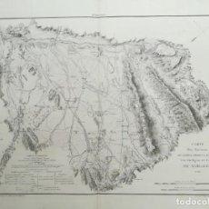 Arte: MAPA MARGALEF - LLEIDA -TARREGA-BALAGUER-AGRAMUNT-TARROS-IVARS BORGES BLANQUES- SUCHET - AÑO 1810. Lote 160669318