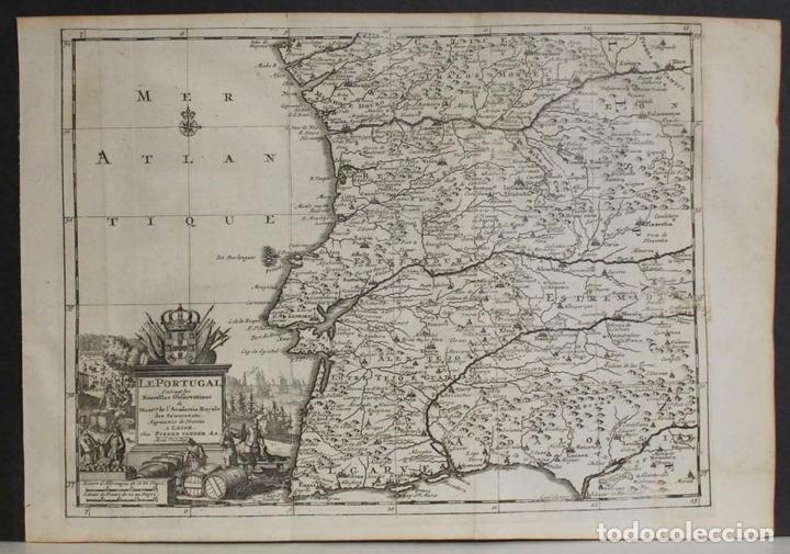 MAPA DE PORTUGAL Y OCCIDENTE DE ESPAÑA, 1648. VAN DER AA (Arte - Cartografía Antigua (hasta S. XIX))