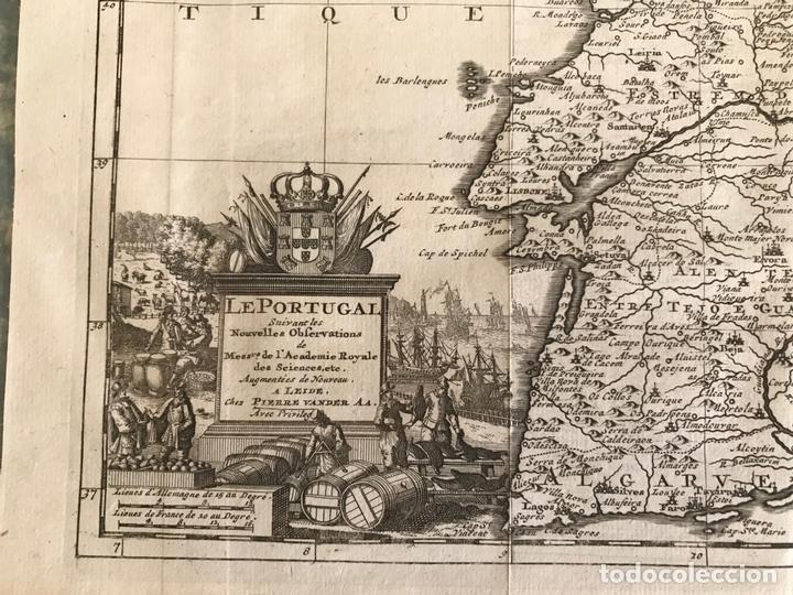Arte: Mapa de Portugal y occidente de España, 1648. Van der Aa - Foto 4 - 160740377