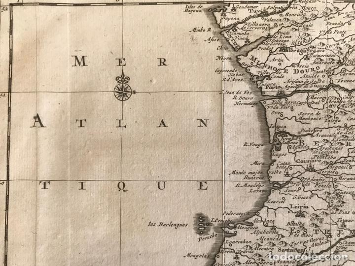Arte: Mapa de Portugal y occidente de España, 1648. Van der Aa - Foto 6 - 160740377