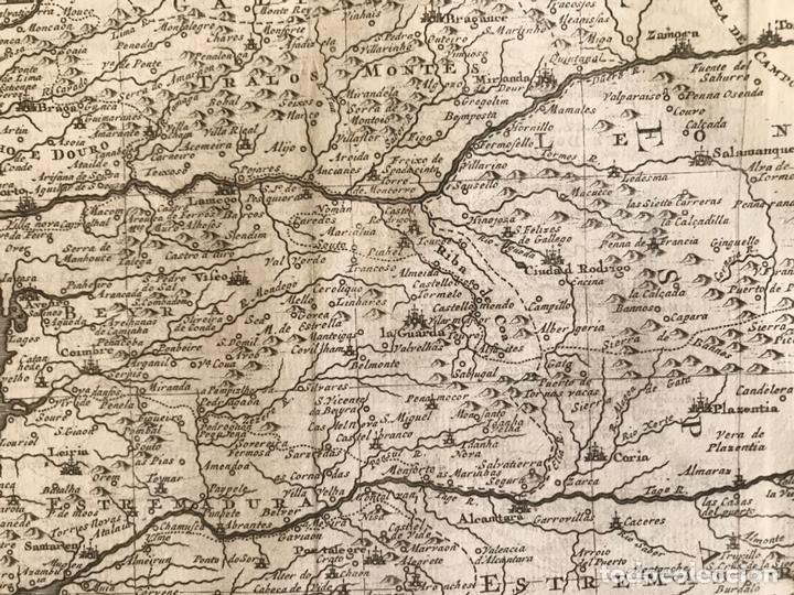 Arte: Mapa de Portugal y occidente de España, 1648. Van der Aa - Foto 7 - 160740377