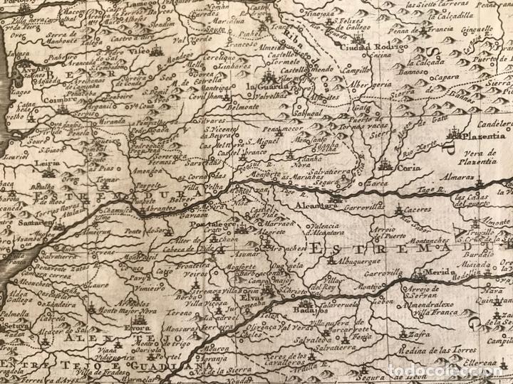 Arte: Mapa de Portugal y occidente de España, 1648. Van der Aa - Foto 9 - 160740377