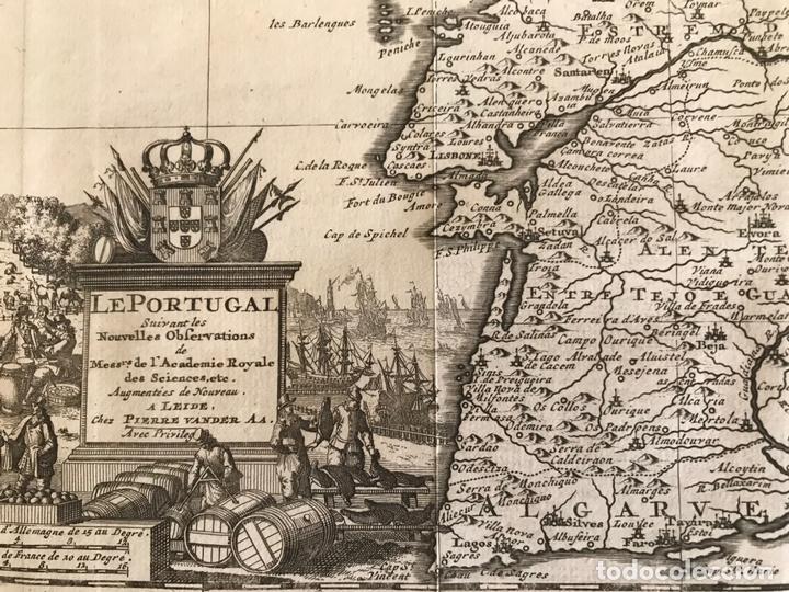 Arte: Mapa de Portugal y occidente de España, 1648. Van der Aa - Foto 11 - 160740377