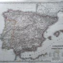 Arte: 1867 - ORIGINAL - ESPAÑA - HANDATLAS DE STIELER - COLOREADO - JUSTUS PERTHES - 44 X 36 CMS. Lote 160981590